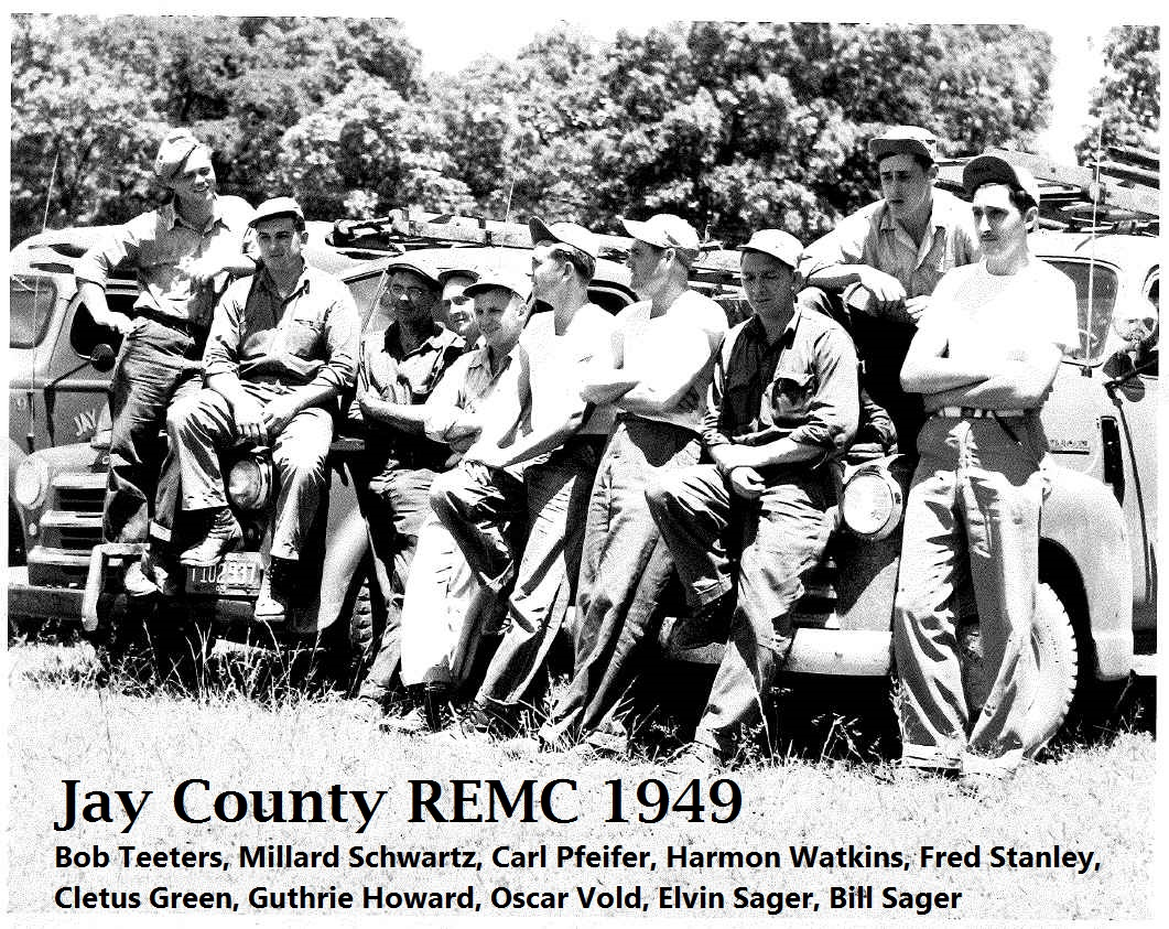 Group of Jay County REMC Linemen from 1949